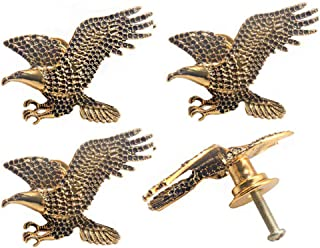Cucumis Mighty Eagle-Shaped Animal Knobs Exquisite Brick Inlaid Cabinet Handle Door Pull Dresser Cupboard Drawer Bookcase ...