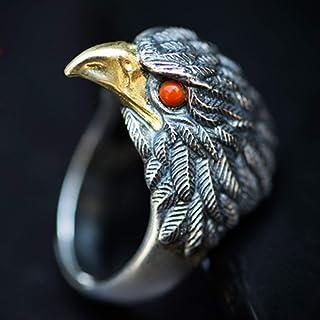 خاتم خاتم رجالي من الفضة الإسترلينية عالي التفاصيل، لن يسبب الحساسية عند استخدامه أفضل هدية للأصدقاء، الأزواج (اللون: فضي،...
