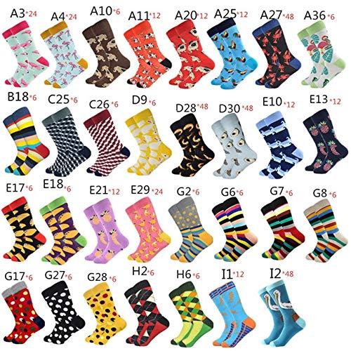 TXGLGWA Calcetines de Hombre Calcetines de Boda de algodón Peinado Feliz para Hombres Calcetines de Colores Personalizados Coloridos US 7.5-12EUR 40-46 450 Calcetines