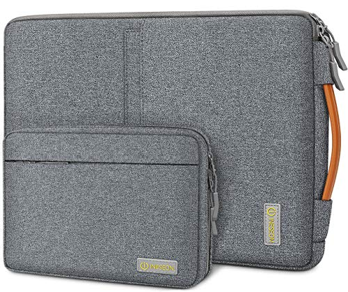 iNeseon Laptop Hülle Tasche für MacBook Air/Pro 13, 13,3 Zoll Laptop Ultrabook, 13,5 Surface Laptop Schutzhülle Tragetasche Notebooktasche mit Griff und Abnehmbarer Zubehörtasche, Dunkelgrau