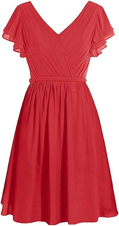 CladiyaDress Women A Line V Neck Formal Dress Evening Gown C090LF