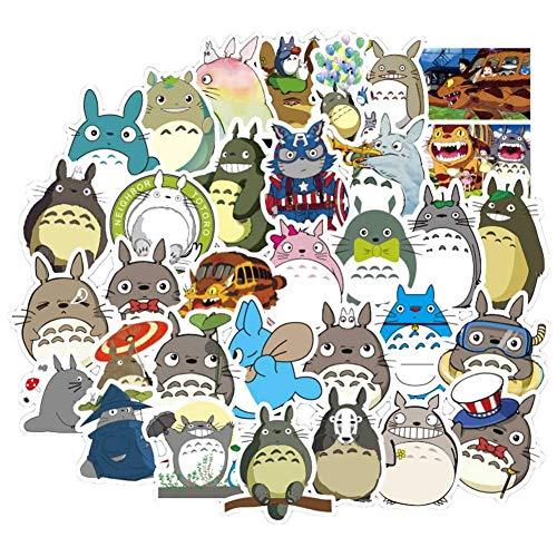 Car-tobby 50pcs/Set Wasserdicht Mein Nachbar Totoro Aufkleber Anime Aufkleber Vinyl Sticker für Laptop,Macbook,Gepäck,Skateboard
