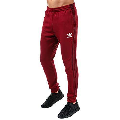 109b4e75822f adidas Originals Mens Mens Superstar Mesh Track Pants in Burgundy - XL