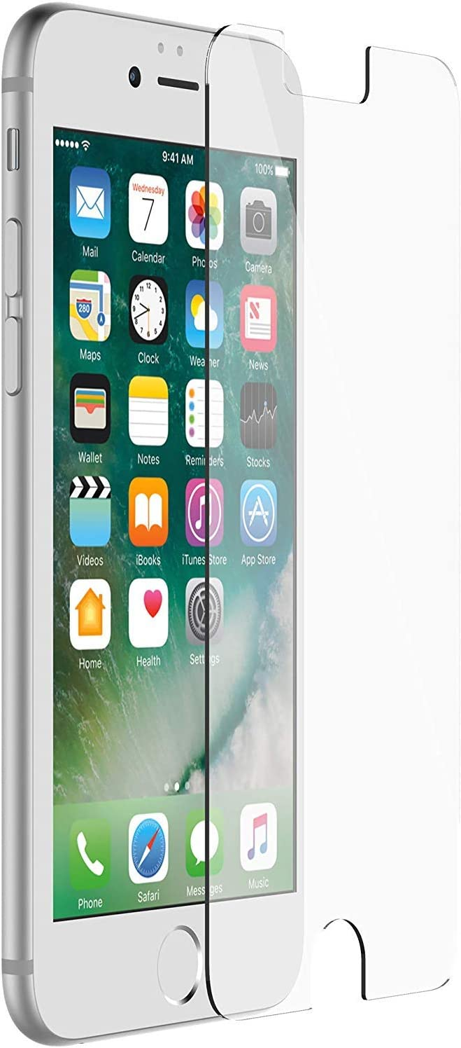 OtterBox Alpha Glass Screen Protector for Commuter and Symmetry Case - Compatible for iPhone 8, iPhone 7, iPhone 6S, 6 - Tempered Glass - Bulk Packaging - Clear