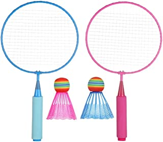 1 Set Children Badminton Rackets Lightweight Entertainment Indoor Kids Toy Outdoor Games Sport Durable With Shuttlecock Ho...