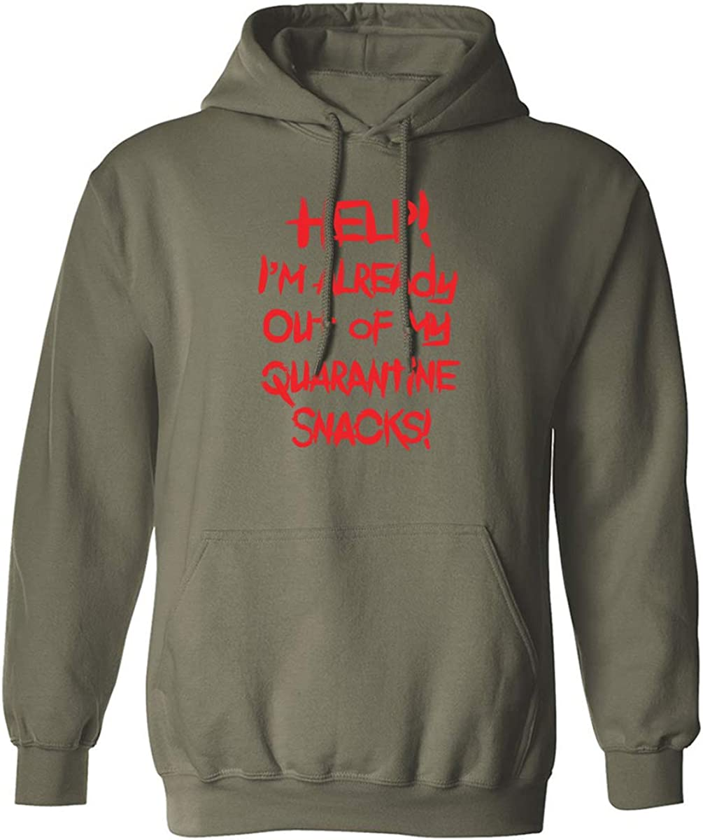 Help! . . . Quarantine Snacks Adult Hooded Sweatshirt
