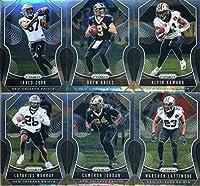 2019 Panini Prizm Football New Orleans Saints Veteran Team Set of 10 Cards: Michael Thomas(#182), Tre'Quan Smith(#183), Ted Ginn Jr.(#184), Jared Cook(#185), Drew Brees(#186), Alvin Kamara(#187), Latavius Murray(#188), Cameron Jordan(#189), Marshon Lattim