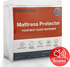 HEPERON Full Size Premium 100% Waterproof Mattress Protector, Mattress Pad Cover, Vinyl-Free, Comfortable & Noiseless, Fitted for 8
