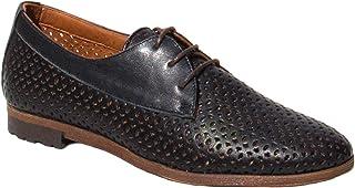 Elska Claire Black Lace Up Shoes