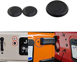 Pack of 3 Sukemichi Jeep Wrangler Tailgate Rubber Plugs,Tramp Stamp Tire Carrier Removable Rubber for Wrangler JK 2007-2017
