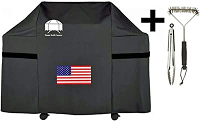 Texas Grill Covers 7555 Premium Cover for Weber Summit 600-series Gas Grills Including Brush and Tongs Fits E-620 S-620 E-670 S-670
