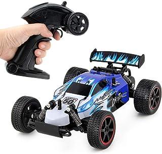 JJQ-TOYS RC Cars Rremote Control Racing Car 2.4Ghz High Speed Rock Off-Road Vehicle 1:18 4WD Radio Remote Control Racing Toy Cars Electric Fast Race Buggy Hobby Car Blue