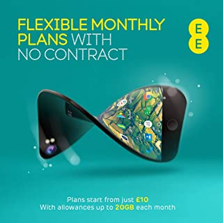 EE Flex Plan Sim Card - Complete Freedom, No Contract, No Remembering to Top Up, Roll Over Your unused Data, and allowance...