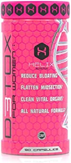 Helix D3TOX for Women - Reduce Bloating, Flatten Midsection, Clean Vital Organs