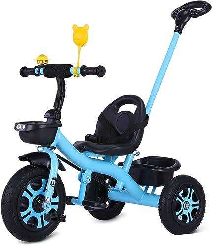 disfrutando de sus compras GYF Triciclo Evolutivo  Primeros Comienzos   Triciclo Triciclo Triciclo Estable para Niños   Metal   Plástico   Barra De Empuje Extraíble  púrpura   blanco   azul   75X50X85CM ( Color   azul )  encuentra tu favorito aquí