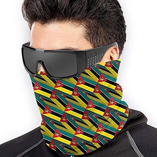 air kong Mozambique Flag 3D Art Pattern Scarf Neck Gaiter Magic Headband Balaclava Hood Unisex Mask Bandana Winter Warm Headwear