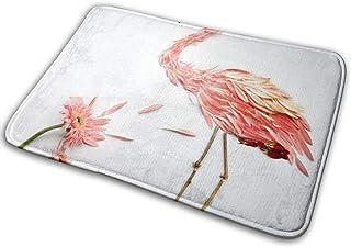 HUVATT Petal Flamingo BathMat Doormat Indoor Outdoor Entrance Designer Floor Welcome Mats Bathroom Rug