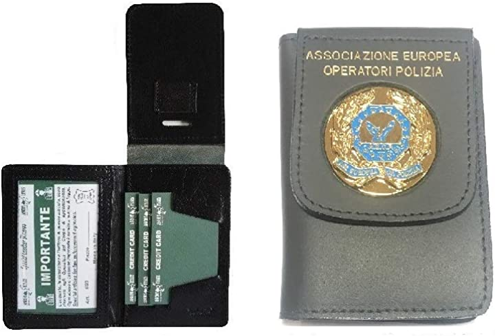 Portadocumenti con placca a.e.o.p. ass. europea operatori di polizia modello vecchio vega holster italia art.1 1WD122