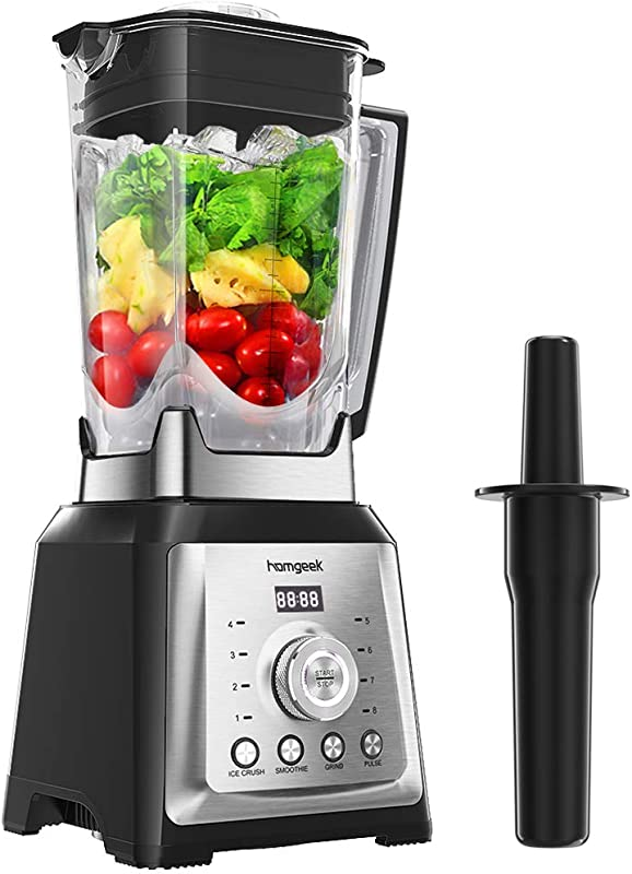 Homgeek Blender Smoothie Maker 30000 RPM High Speed Professional Countertop Blender For Shakes And Smoothies With 8 Speeds Control 68OZ BPA Free Tritan Pitcher 1450W