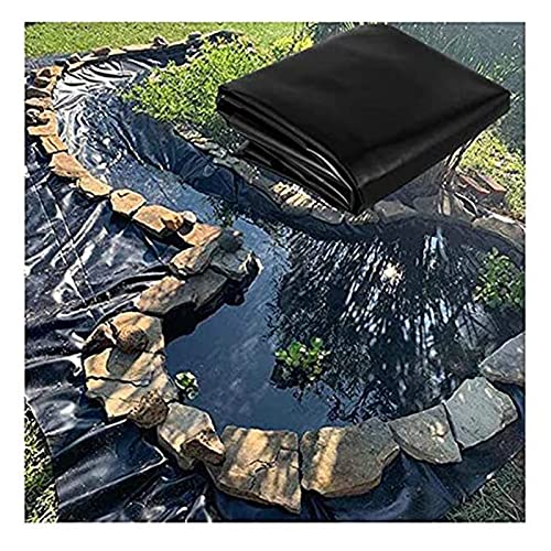 XXIOJUN Pond Liner, Gardens Pools Membrane, HDPE Pond Skins, Foldable Tarp Membrane Heavy Duty Impermeable Film For Gardens Pools Roof, 43 Sizes (Color : 0.4mm/Black, Size : 3x7m)
