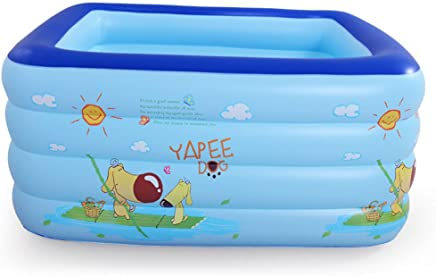 GEXING Infant And Children Swimming Pool Baby Home Thickening Properties Bathtub Inflatable Swimming Bucket,Blue