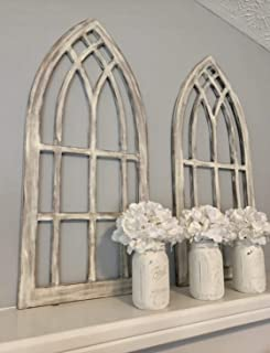 Farmhouse arched window frames