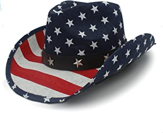 425ec5518f5 VAXT 4 Style Internal Flag Cowboy Hat for Women Men Fedora Hat Sun Hat