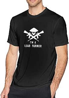 I'm A Lead Farmer Mens Fashion Short Sleeve T Shirt Vintage Tee Black