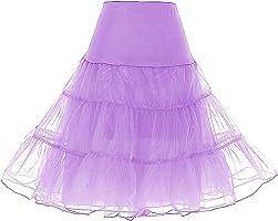 Dresstells Jupon années 50 vintage en tulle Rockabilly Petticoat longueur 67cm