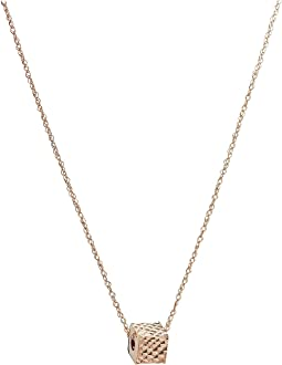 Dee Berkley - 14KT Solid Rose Gold Cube Necklace
