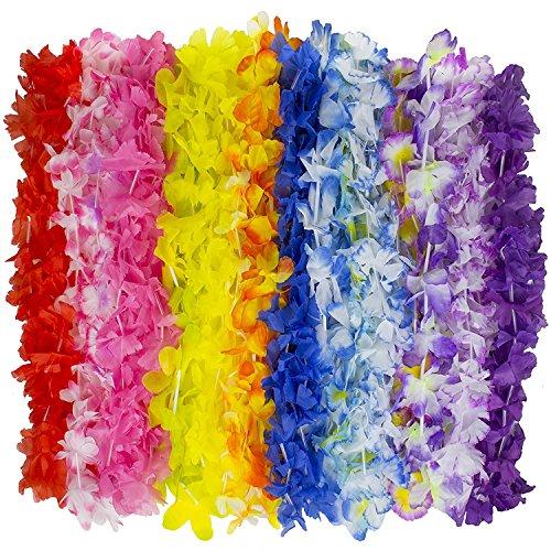 Kangaroo Jumbo Party Bag - Tropical Hawaiian Luau Lei Styles (50 ct) - Party Favors