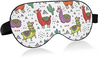 ALAZA Cartoon Llama Cactus Sleep Mask for Women Men Eye Mask for Sleeping Funny Blackout Cooling Sleeping Masks