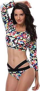 Qitun Mujer Bañadores Tallas Grandes Traje De Baño Bikinis De Dos Piezas Bikini Trajes De Baño Confort Elástico Colores Me...