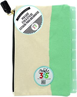 me & my BIG ideas  PLS-01 Create 365 The Happy Planner Snap in Pouch, Happy Things Inside Mint With White Pouch