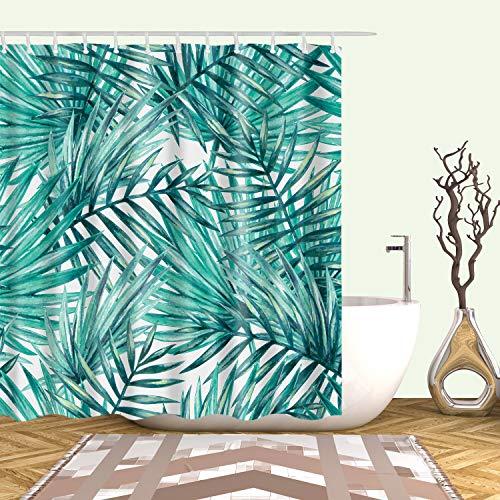 XCBN Cortinas de Ducha Plantas Tropicales Flores Impresas Cortina de Ducha de baño Cortina de baño Impermeable Pantalla de baño Decoración A33 150x180cm