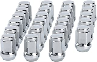 dynofit 1/2-20 Chrome Wheel Lug Nuts, 23 Solid 1/2x20 Conical Seat Aftermarket Lugnuts on Tuner Rims for Durango Journey Viper XJ KJ KK CJ Commander XK ZJ WJ WK Liberty TJ JK Explorer