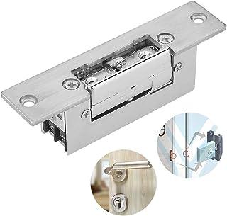 Electric Strike Door Lock, DC12V Ajustable Narrow Asegure una Operación Duradera - Alta Resistencia y Alta Dureza Cerradura de Control de Acceso - Para Edificios de Oficinas - Puertas de Acero Inoxida
