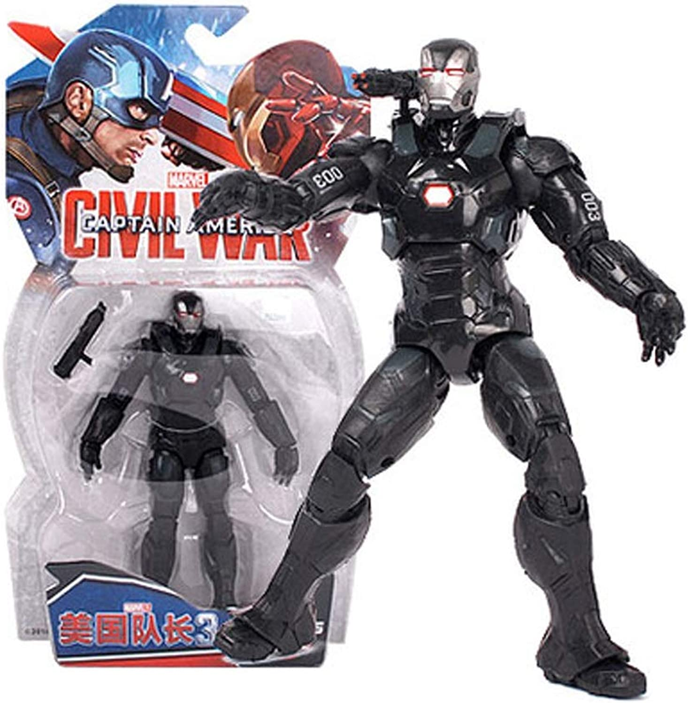 Toys  Marvel Toys  DC Toys  Avengers 3 4 Joint Detachable  Spiderman   Superman   Panther   Iron Man   Captain America ( color   E )