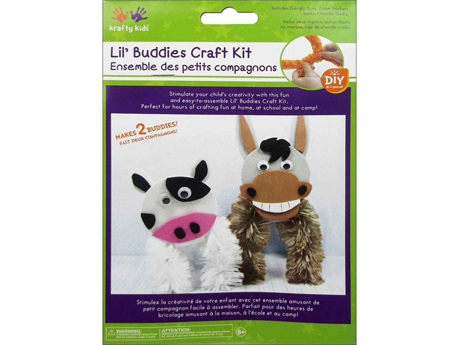 Multicraft Krafty Kids DIY Craft Kit Lil' Buddies Donkey/Cow