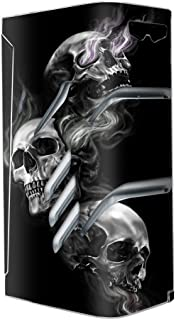 Skin Decal Vinyl Wrap for Smok T-Priv Vape stickers skins cover/ glowing Skulls in Smoke