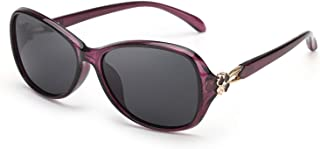 PdnIds Oval Sunglasses for Women Polarized-Fashion Classic Frame with 100% UV 400 Protection