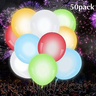 Parsion 50 Pcs Globos Led Colores Globos Luz para Fiesta Boda Fiesta Cumpleaños Navidad Reunión Ceremonia