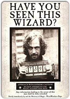 WTF Sirius Black Wanted Poster Azkaban Potter Tin Sign Metal Sign TIN Sign 7.8X11.8 INCH
