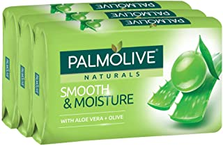 Palmolive Naturals Bar Soap, Smooth and Moisture, 80g (Pack of 3)