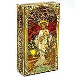 Golden Art Nouveau Tarot 78PCS Tarjetas de tarot, Tarot Vintage Future Decling Tarjetas de juego