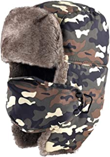 033e2d60e156f DOSOMI Thickened Warm Trapper Hat Winter Women hat Russian Bomber Hat Fake  Fur Casual Ear Flaps