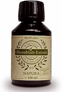 Olivenblatt Extrakt NATURA 100ml, flüssig, 100% natürlich/naturrein, keine Zusatzstoffe!, höchstdosiert, vegan, glutenfrei, laktosefrei, GMO-frei, qualitätsüberprüft