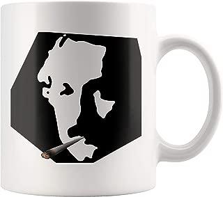 Albert Einstein Thug Life Portrait Coffee Mug
