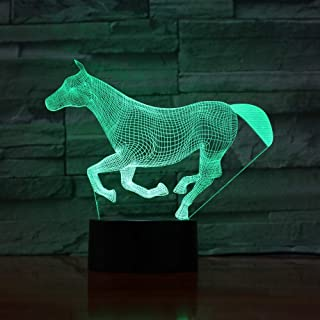 WEREWTR 3D Night Light Led Cute Animal Night Light Acrylic 3D Marquee Baby Bedroom Table Lamp with USB 3D