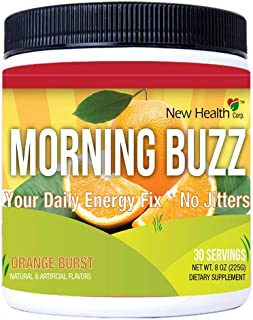 Morning Buzz Sports Energy Drink by New Health, Pre Workout, Sports Nutrition Drink, Supports Lasting Energy, Endurance, M...